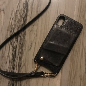 Bandolier iPhone X cell leather phone case purse
